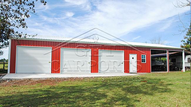 30x70x10 Aframe Vertical Garage