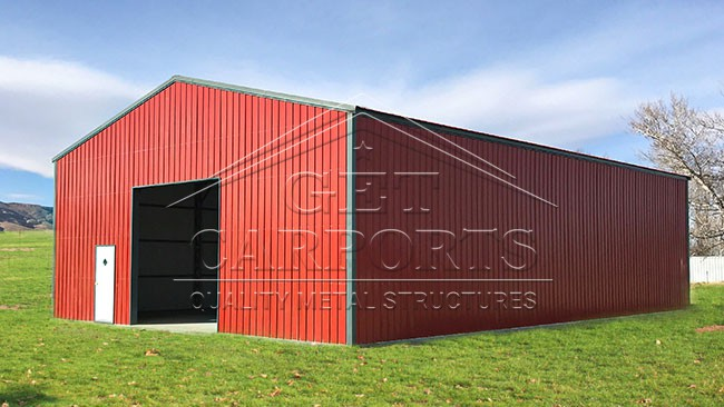 40x60x16 Commercial Clear Span All Vertical