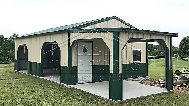 20x35x11 A-Frame Garage w/Porch