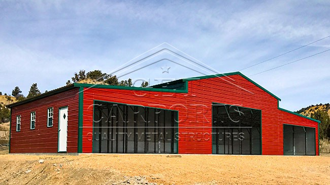 70x30x13-11-9 Aframe Vertical Roof Barn
