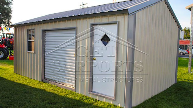 12x20x8 Aframe Storage Vertical Roof