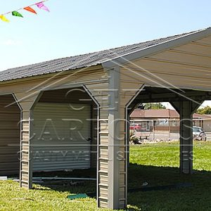 18x30x7 A-Frame Vertical Roof Side Entry Utility Package