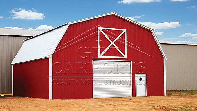 30x30x10 Gambrel Barn