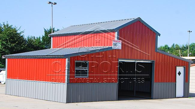32x30x12 A-frame Colonial Barn