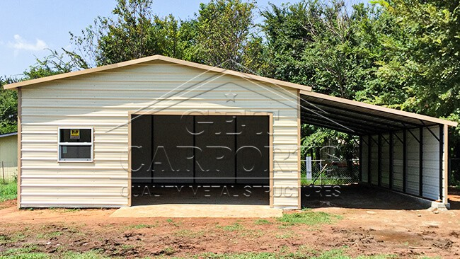 20x35x9 Aframe Garage w/Lean To