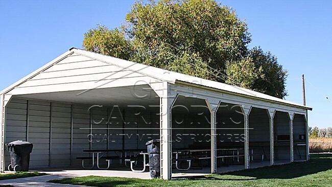 30x55x10 A-Frame Carport
