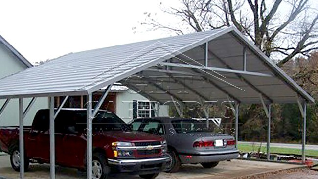 26x25x8 Aframe Horizontal Carport