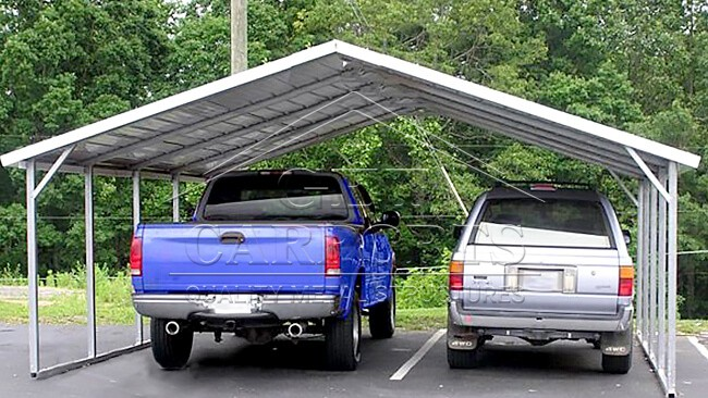 18x26x7 Aframe Horizontal Carport