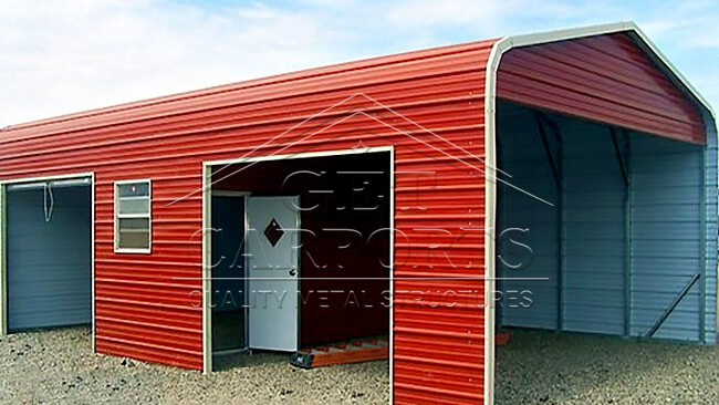 18x36x10 Regular Style Combo Carport