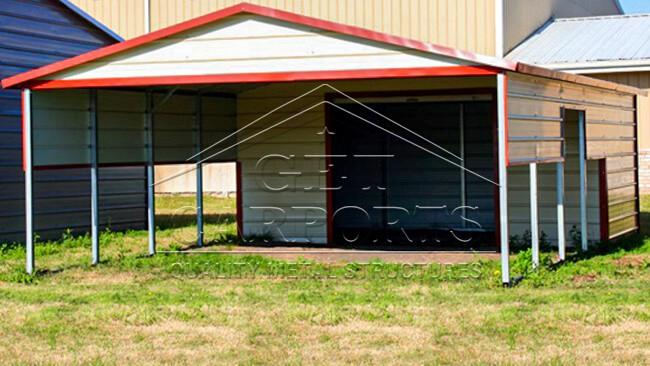 20x30x7 Aframe Vertical Roof Combo Carport