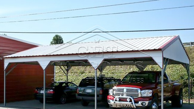 18x30x9 Aframe Vertical Roof Side Entry Certified Carport