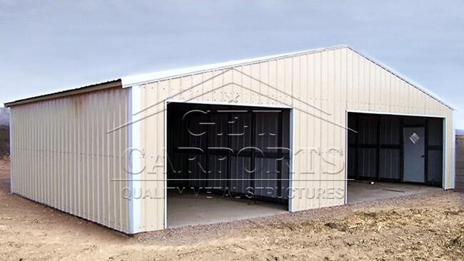 30x35x11 Aframe All Vertical Roof Garage