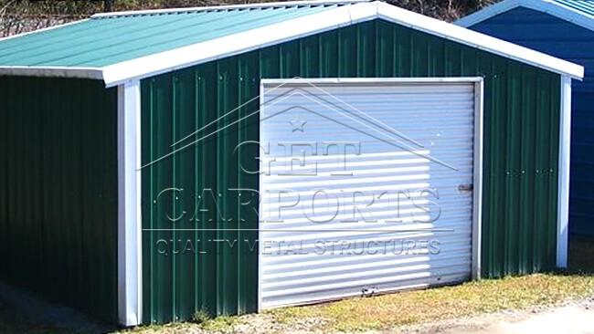 18x20x9 Aframe Vertical Roof Garage