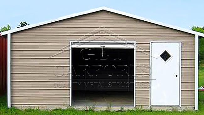 18x26x8 Aframe Horizontal Roof Garage