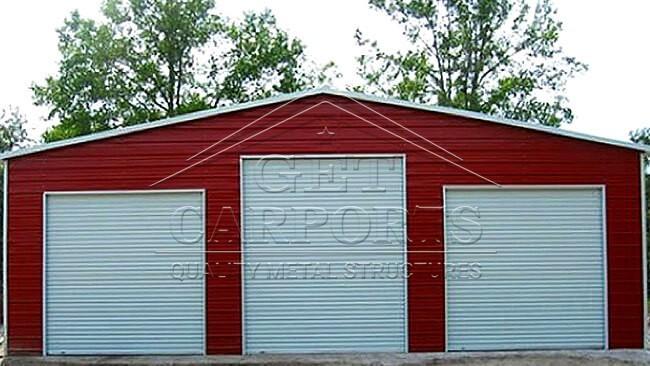 34x30x11 Aframe All Vertical Garage