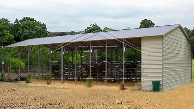 24x60x10 Aframe Vertical Roof Horse Stall