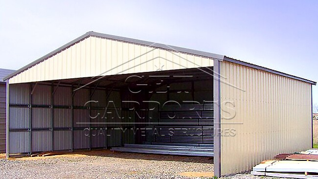 30x40x10 Aframe Vertical Roof Carport