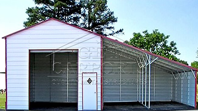 20x20x12 Certified Aframe Vertical Roof Building w/2 Lean Tos