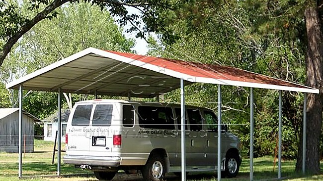 12x21x7 Aframe Horizontal Carport