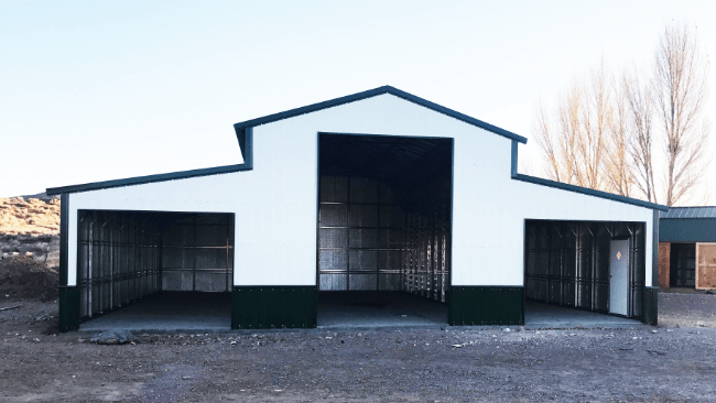 Standard Features of a Metal Loafing Shed