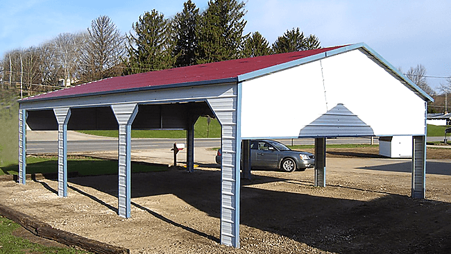 You Can Customize Your Triple Wide Carport with Storage Too!
