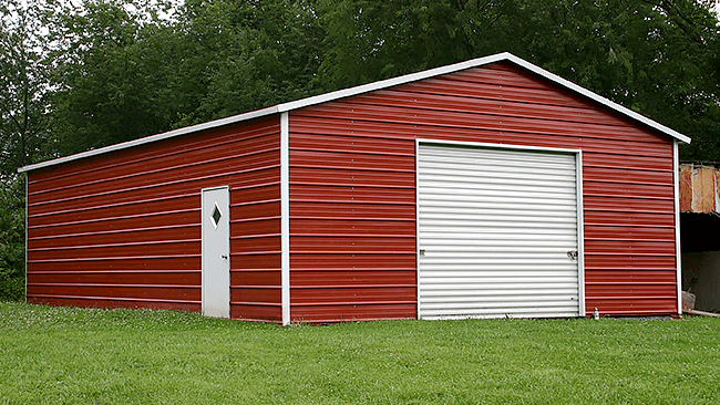 Single Car Metal Garages