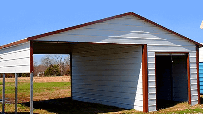 Single Carports with Storage