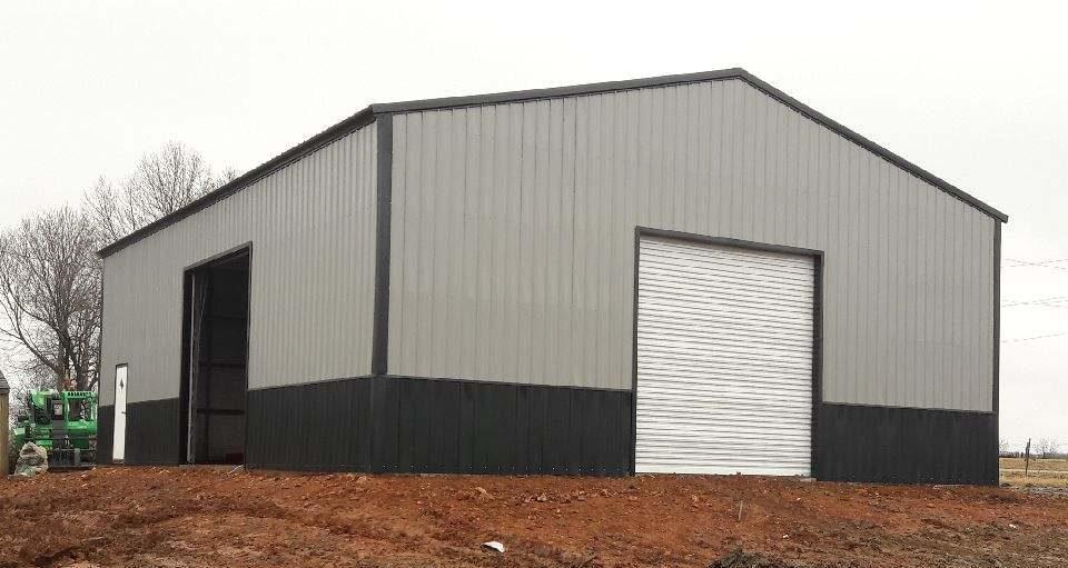 Steel Garage with two garage doors