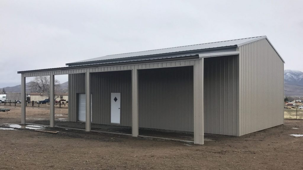 Metal Building with a lean to